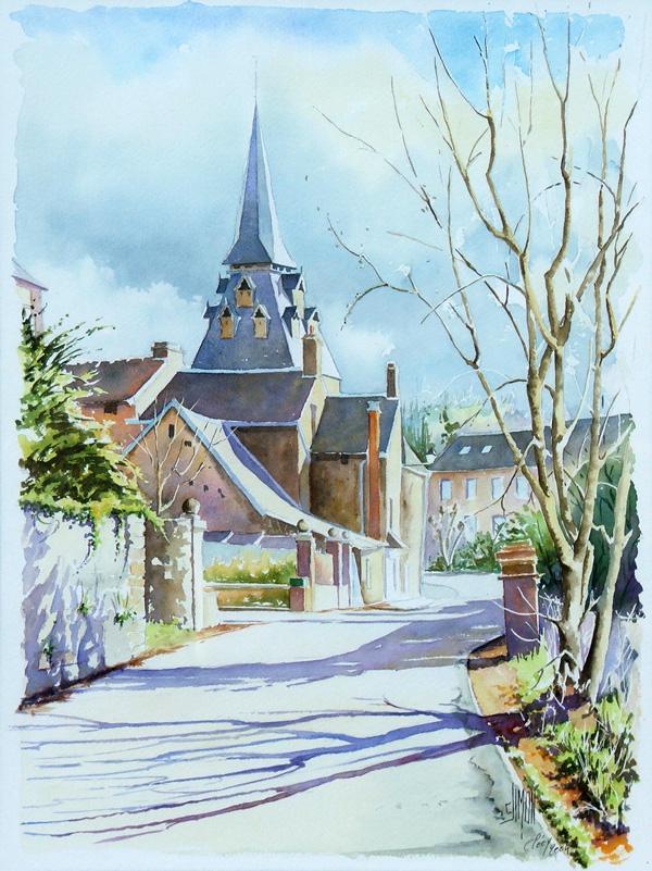 aquarelle watercolor clochet clecy