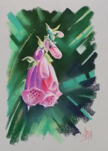 aquarelle watercolor fleurs digitale