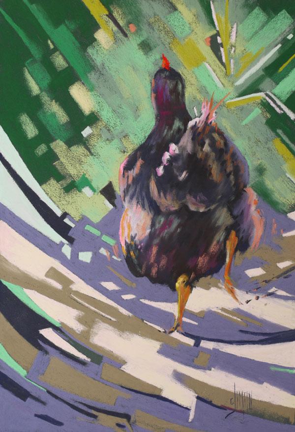 pastel poules