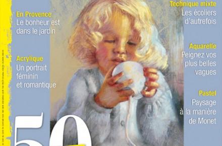 couverture du magazine plaisirs de peindre