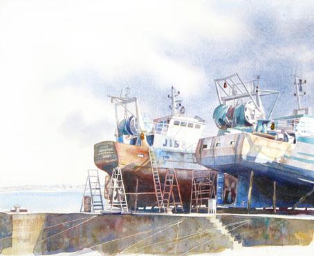 celine dodeman tableau aquarelle marine