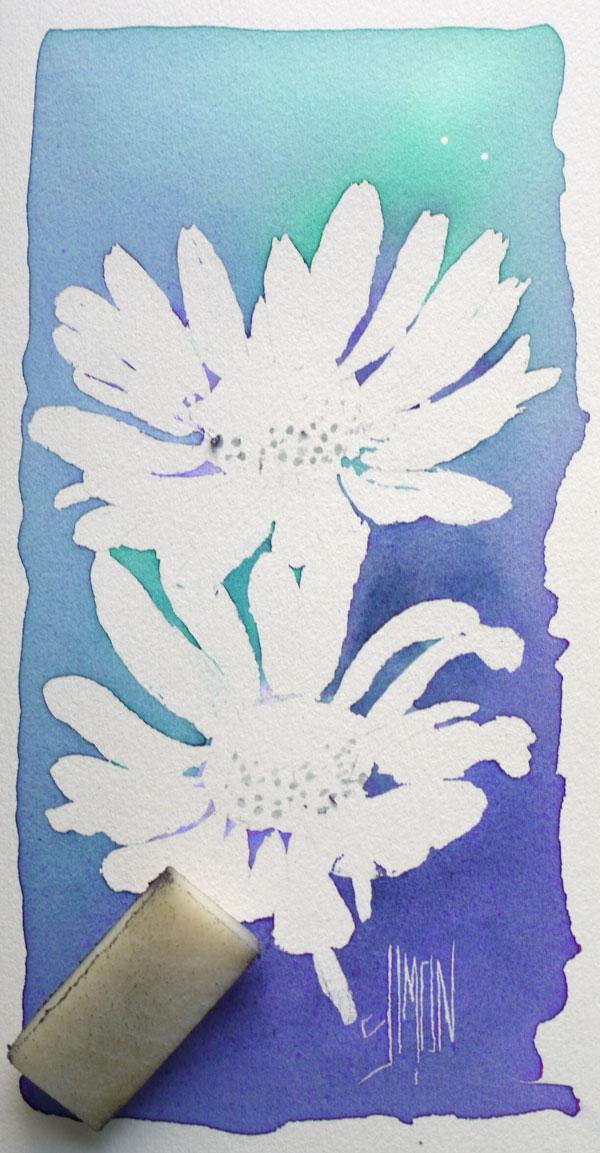 aquarelle art astuces drawing gum finale retrait