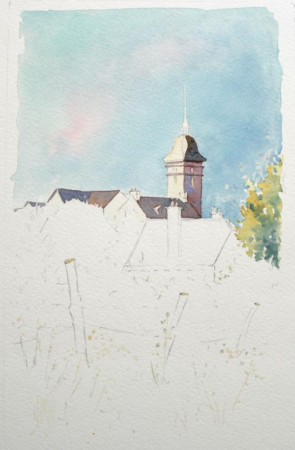 Optimisation aquarelle saint bomer Ombre eglise 13