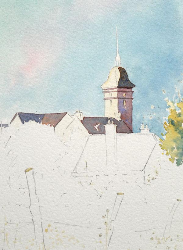 Optimisation aquarelle saint bomer detail Ombre eglise 14