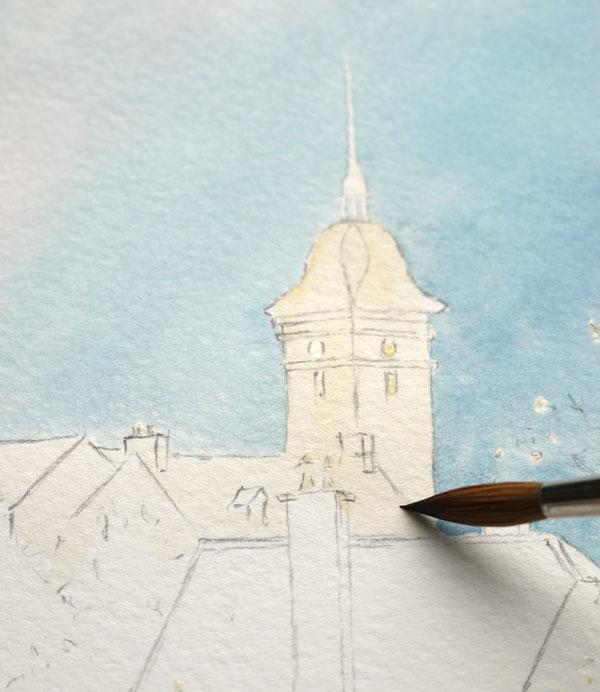 Optimisation aquarelle saint bomer detail eglise 11