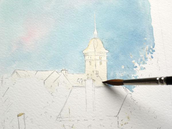 Optimisation aquarelle saint bomer eglise 10