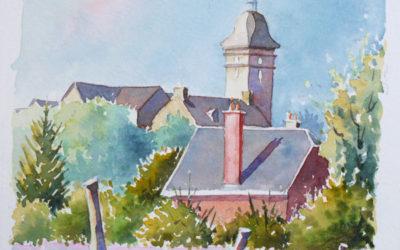 Eglise de Saint-Bômer – Pas à pas à l'aquarelle