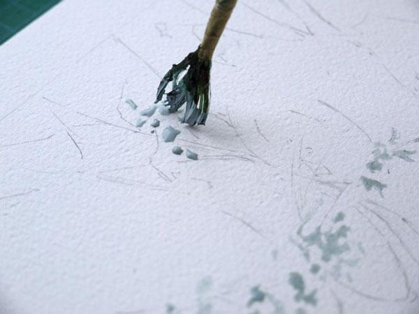 optimisation aquarelle ombre arbre drawing gum