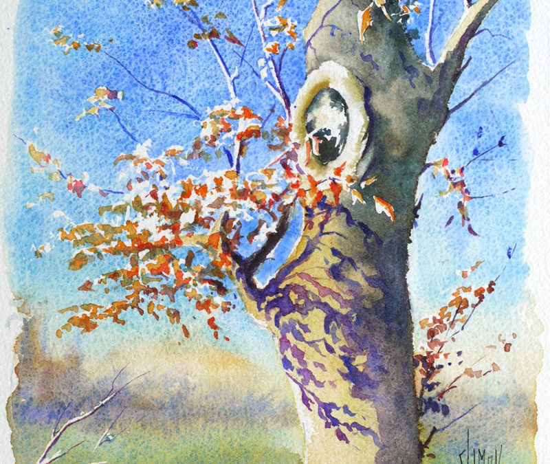 A l'ombre d'un arbre – Pas à pas à l'aquarelle