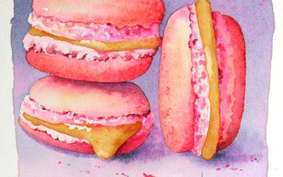 Macarons à l'aquarelle – pas à pas