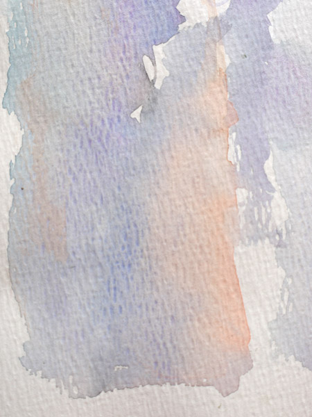 réalisation d'un fond à l'aquarelle