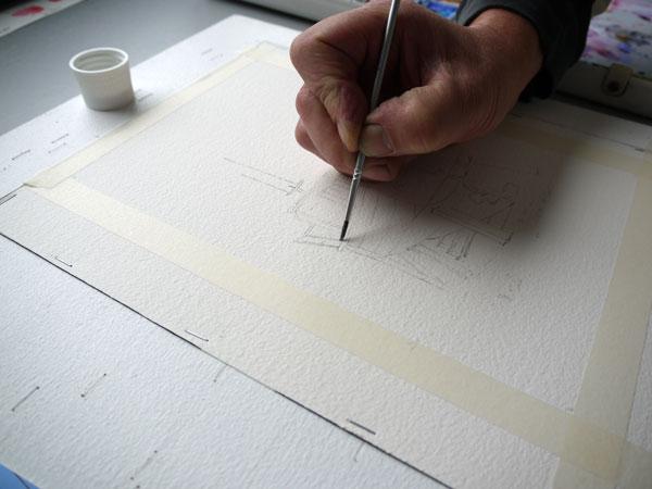 pose du drawing gum au pinceau