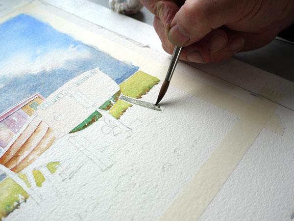 peindre les étais