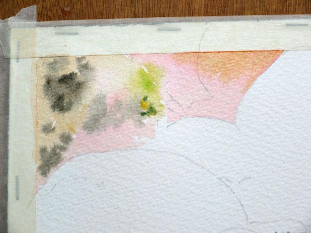 aquarelle yosemite premières couleurs