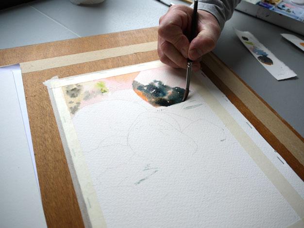 aquarelle yosemite premier rocher