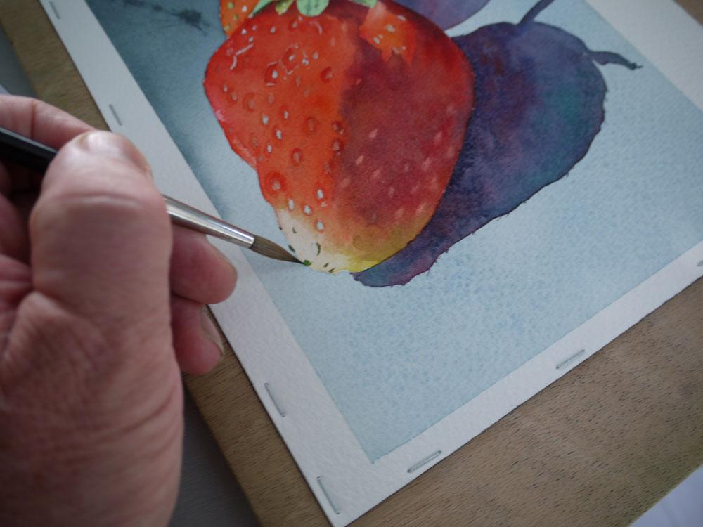 création des ombres sous les fraises