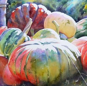 aquarelle watercolor Bain de soleil e1449530302711
