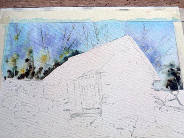 aquarelle-watercolor-baraque-neige-10