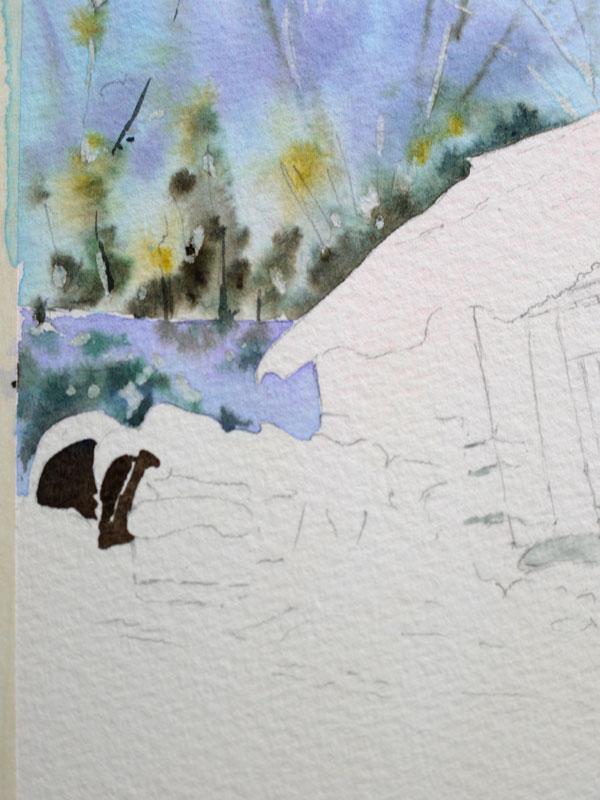 aquarelle-watercolor-baraque-neige-12