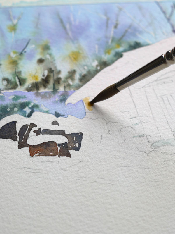 aquarelle-watercolor-baraque-neige-13