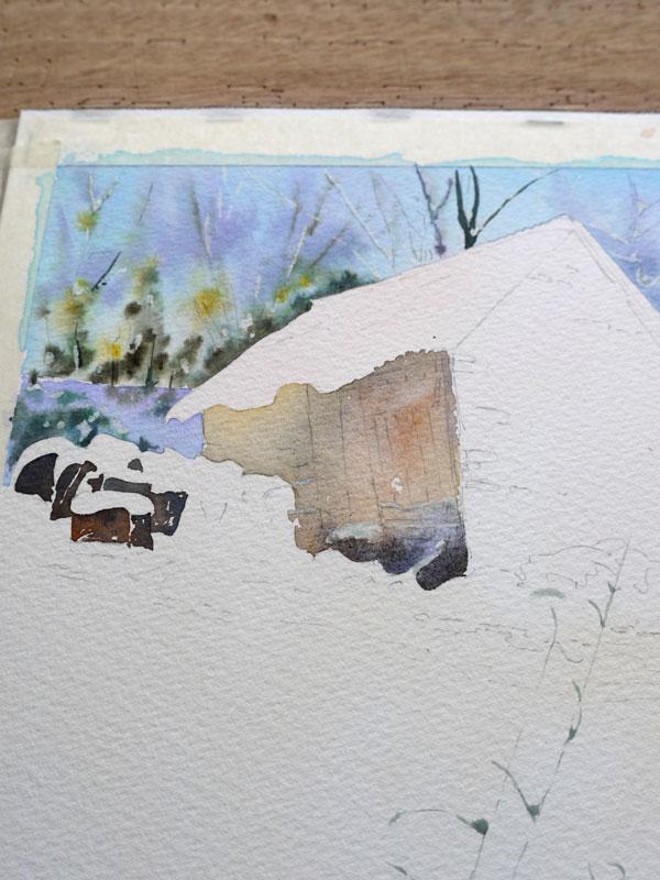 aquarelle-watercolor-baraque-neige-14