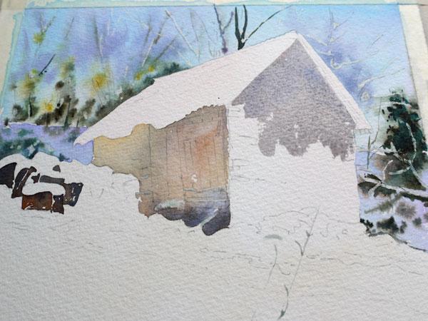 aquarelle-watercolor-baraque-neige-15