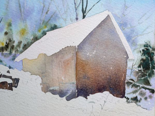 aquarelle-watercolor-baraque-neige-16