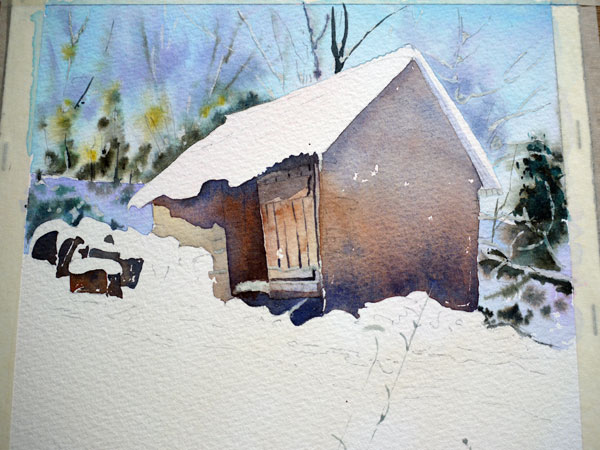 aquarelle-watercolor-baraque-neige-18