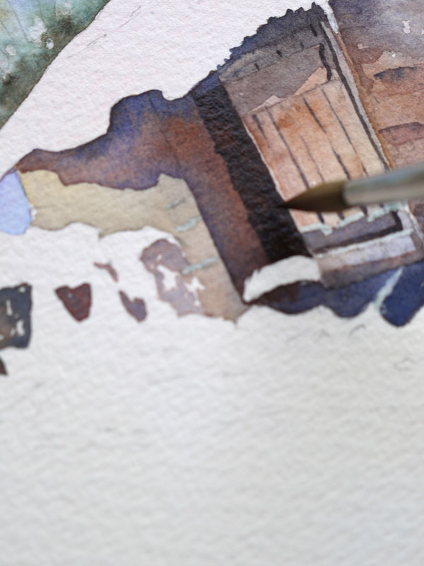 aquarelle-watercolor-baraque-neige-19