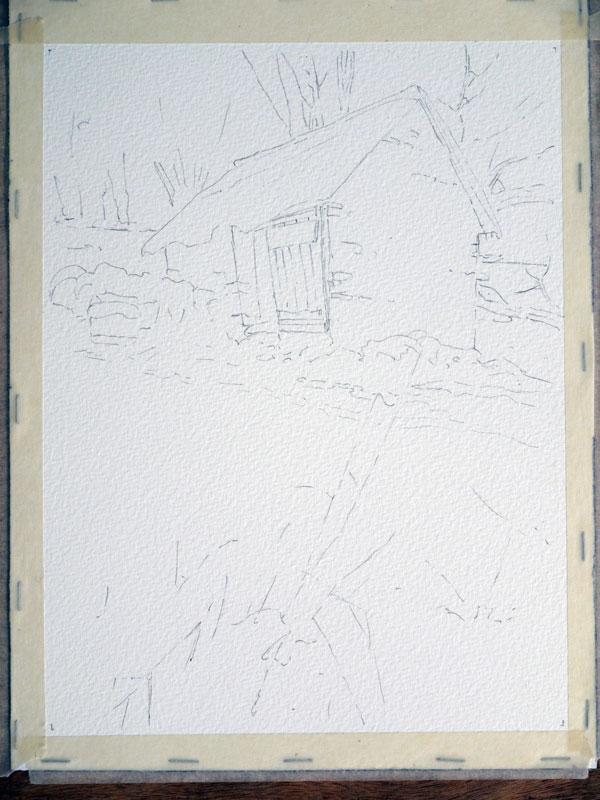 aquarelle-watercolor-baraque-neige-2