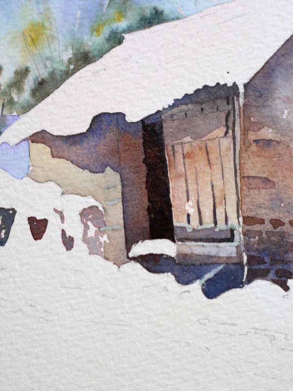 aquarelle-watercolor-baraque-neige-20