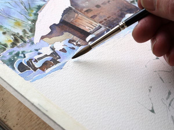 aquarelle-watercolor-baraque-neige-21