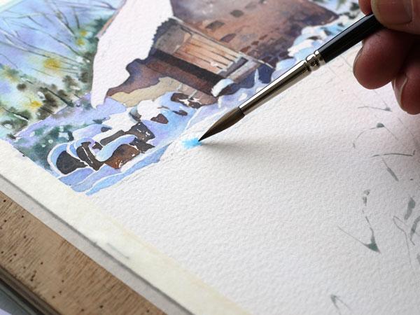 aquarelle-watercolor-baraque-neige-22