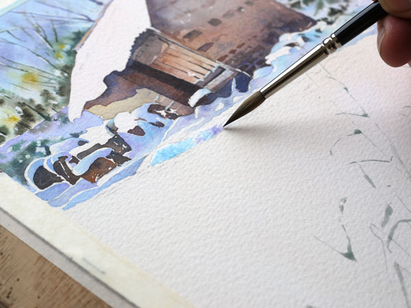 aquarelle-watercolor-baraque-neige-23
