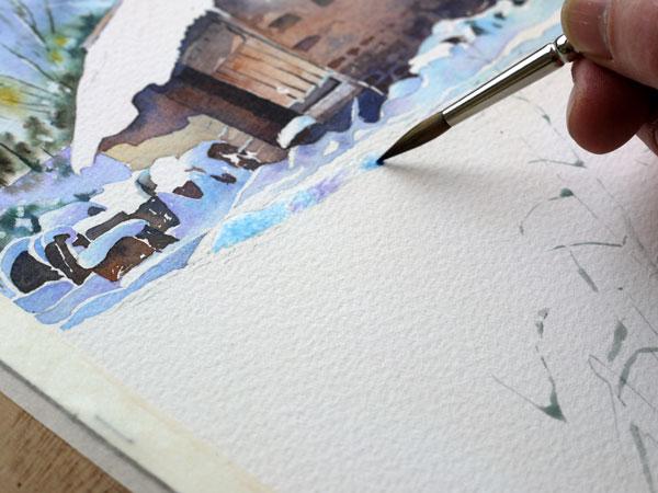 aquarelle-watercolor-baraque-neige-24