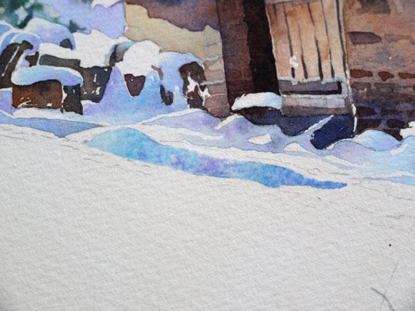 aquarelle-watercolor-baraque-neige-25