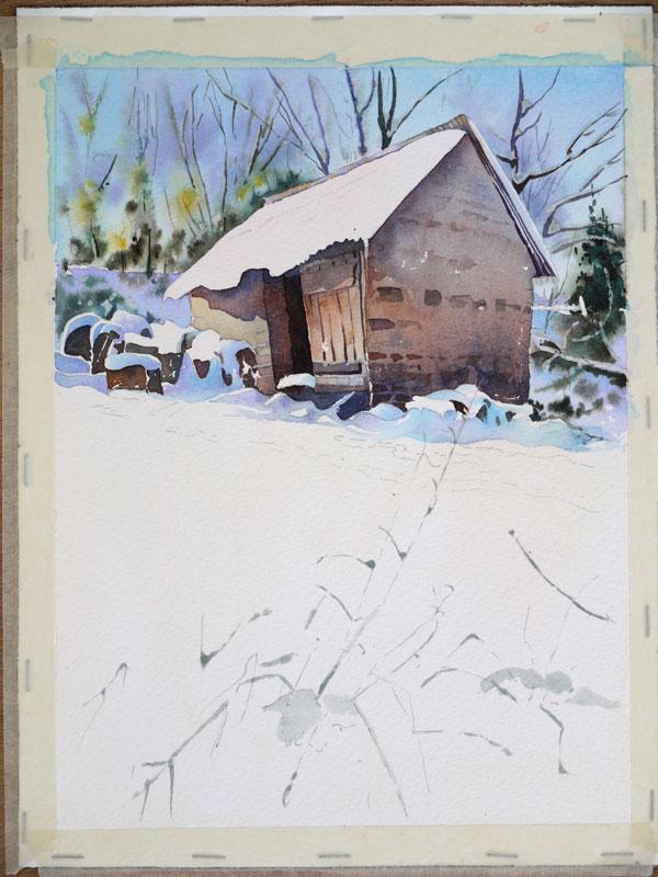 aquarelle-watercolor-baraque-neige-26
