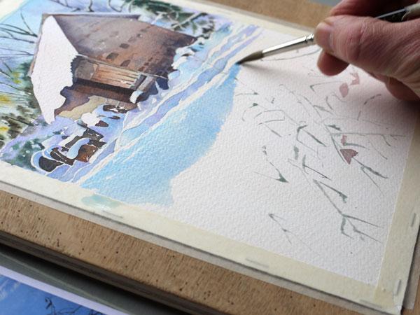 aquarelle-watercolor-baraque-neige-29