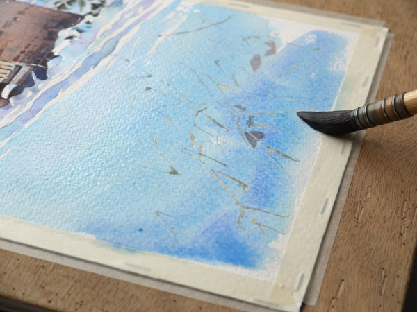 aquarelle-watercolor-baraque-neige-33