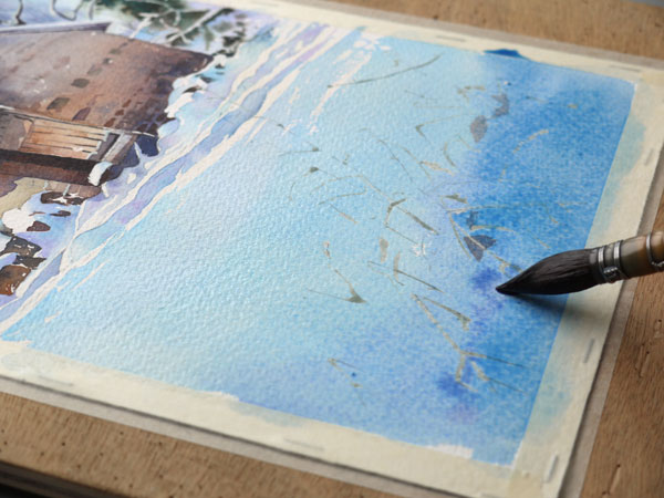 aquarelle-watercolor-baraque-neige-34