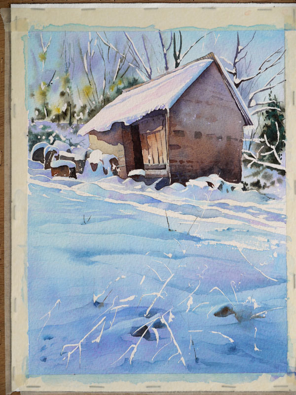 aquarelle-watercolor-baraque-neige-45