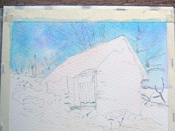 aquarelle-watercolor-baraque-neige-8