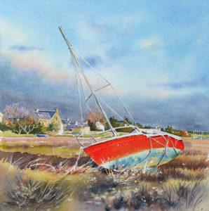 aquarelle watercolor red sail finale 1