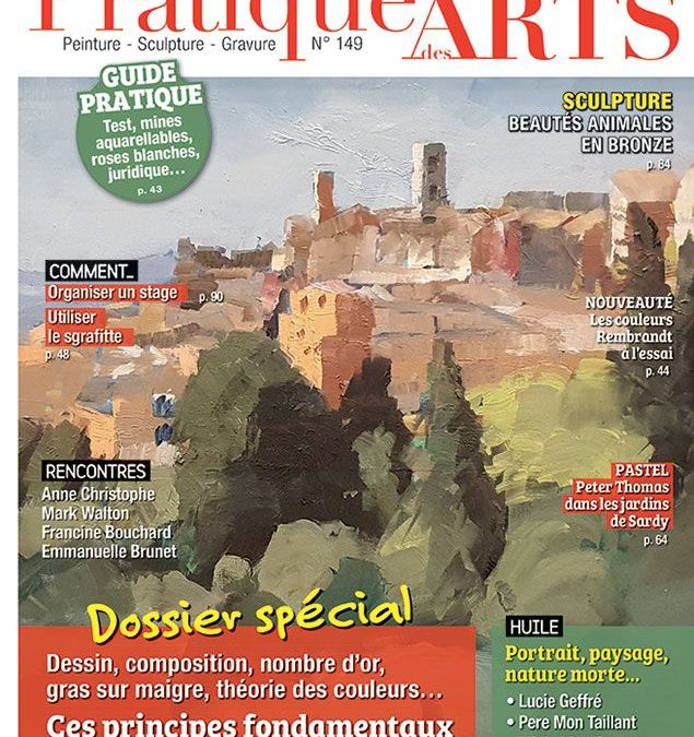 couverture du magazine pratique des arts numéro 149
