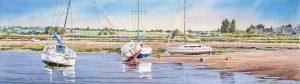 aquarelle joel simon voiliers a regneville