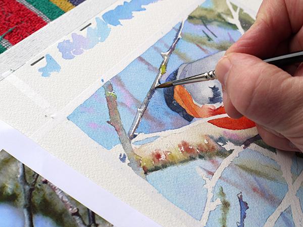 joel simon aquarelle bouvreuil 29