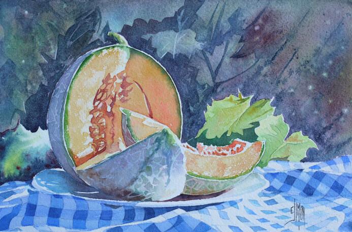 02 parts de melon