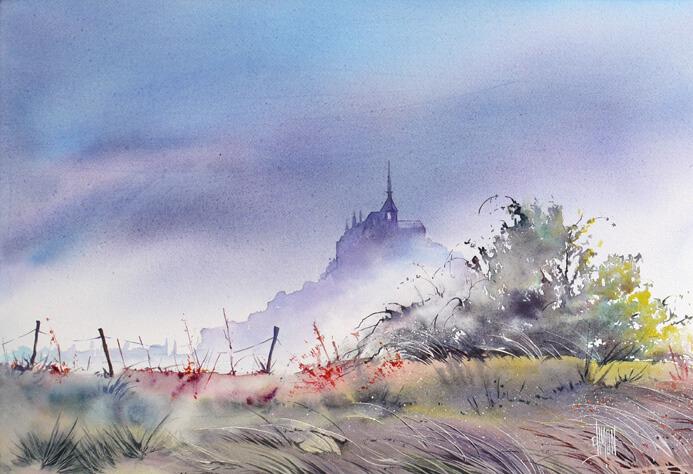 05 Brume sur le Mont St Michel