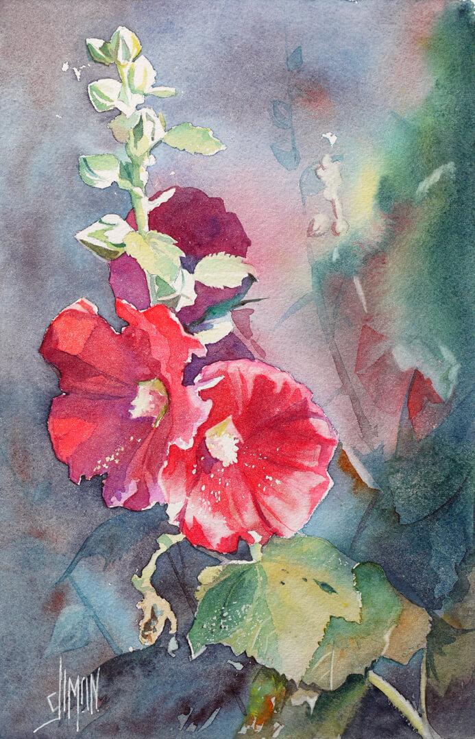 09 Rose trémière Rouge