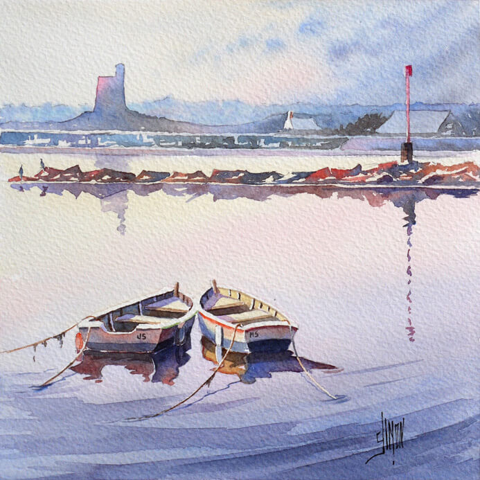 Barques au fort de st Vaast